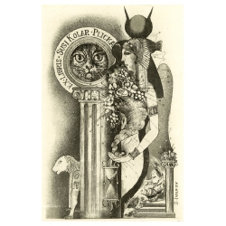 Susi Kolar-Plicka - Mythological: Isida and cat