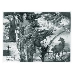 Erika Selle - Mythological: Diana and horses