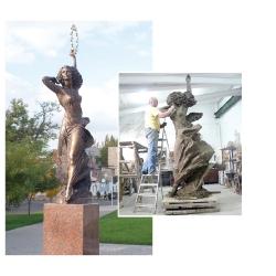 """Monument """"United Evrope"""" in the regional citi of Nikolaev. Ukraina"""