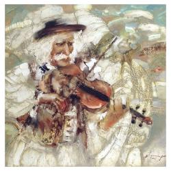 Hutsul, playing the violin